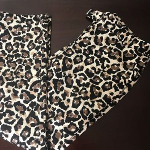 Loft Cheetah print crop pants